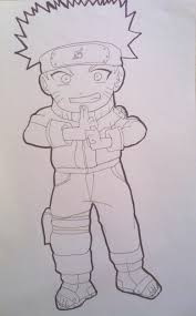 naruto uzumaki pts chibi drawing lineart by krizeii on deviantart