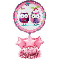birthday balloon arrangements creative converting balloon centerpiece kit owl pal