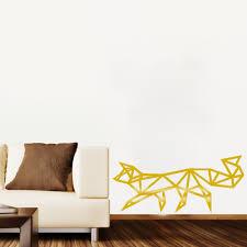 aliexpress com buy baby wall decals geometric fox wall sticker