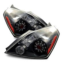 nissan altima tail light cover 08 10 nissan altima 2dr coupe euro style led tail lights black