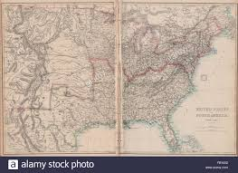 Border Map Of Usa by Civil War Usa Showing Union Confederate U0026 Border States Ettling