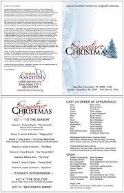 Church Programs Templates Church Christmas Program Template Signature Christmas Annual