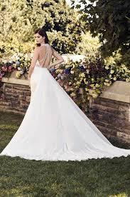 sophisticated chiffon train wedding dress style 4741 paloma