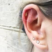 stud cartilage piercing helix piercing byrdie uk