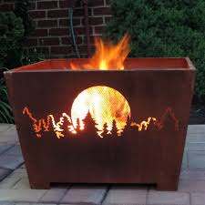 Burning Pit Of Fire - esschert design forest u0026amp moon wood burning fire pit walmart com