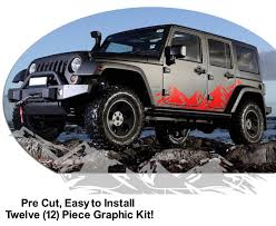 jeep wrangler logo decal jeep wrangler graphics kits and custom decals