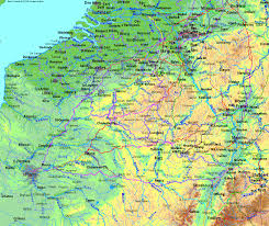 Map Of Belgium And France by Radweit Direct Cycling Routes Between France Belgium And Germany