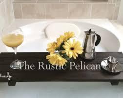 Wood Bathtubs Bathtub Tray Rustic Bathtub Caddy Tub Tray Wood Tub Shelf