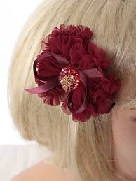 hair chiffon beaded burgundy chiffon ruffle bow hair clip accessory blue