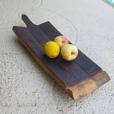 Cutting Board With Trays by Handcrafted Wine Barrel Serving Tray Barrel Stave With Handles