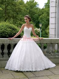 lace over taffeta strapless scalloped sweetheart ball gown wedding