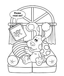 blues clues coloring pages preschoolers color zini blue