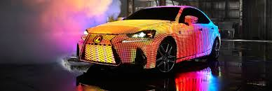 white opal lexus lexus unveils mind blowing car covered with 41 999 leds