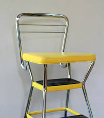 Painted Metal Vintage Cosco High Chair Bold Colors Retro Step Stool Chair