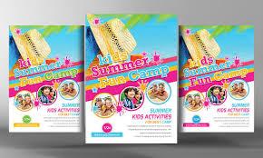 perfect kids summer fest flyer template