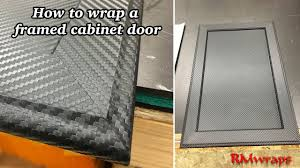 how to wrap cabinet door rmwraps com youtube