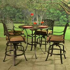 High Table Patio Furniture Patio Furniture Bar Height Collection Sets Outdoor With Table And