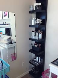 Vanity Case Beauty Studio Beauty Room Update Aka My Ikea Collection Lack Shelf Shelves