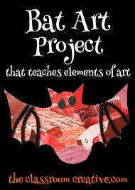 bat art project for kids using elements of art