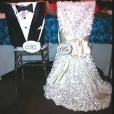 and groom chair covers you can make your own cheap wedding chair covers with a