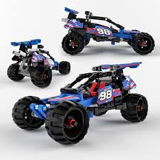 lego technic car lego technic off road racer 3d model cgtrader