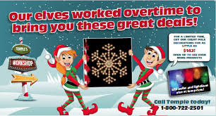 Commercial Christmas Pole Decorations by Commercial Holiday Decorations Temple Display