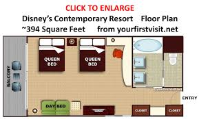 Contemporary Floor Plan by Accommodations And Theming At Disney U0027s Contemporary Resort