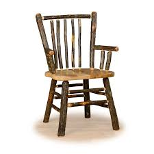 hickory dining room chairs set of two rustic hickory stick back arm chairs