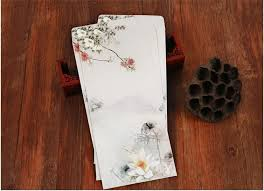chinese style ink lotus writing paper envelope set   pcs lot vintage envelope with letter paper for students gift school wz jpg Chinese Style Ink Lotus Writing Paper Envelope Set   pcs lot Vintage Envelope With Letter Paper