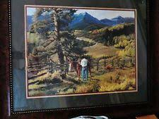 home interior cowboy pictures 2 vintage 1978 homco home interiors large flower syroco wall plaques