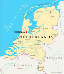 netherlands map cities netherlands political map with capital amsterdam national borders