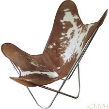 Bkf Chair Chair Cowhide Brown And White