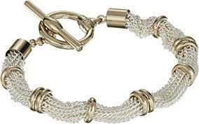 multi tone gold bracelet images Lauren ralph lauren women 39 s multi row toggle bracelet jpg