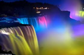 niagara falls light show the world s brightest water colours magical pictures of niagara