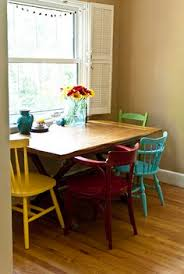 Dining Room Table Chairs Table Against The Wall Two Chairs One Bench Seat Seating For