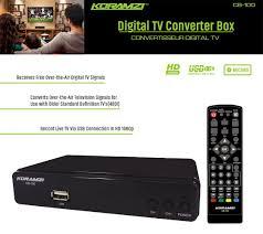 koramzi cb 100 hdtv digital tv converter box atsc with usb dvr