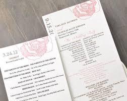 wedding church programs modern wedding ceremony programs wedding booklet programs