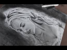drawing beautiful cinderella lily james charcoal youtube