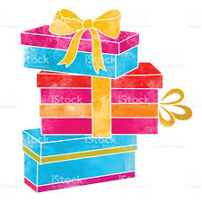 bows for gift boxes watercolor colorful gift boxes with bows stock vector more