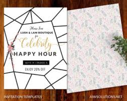 pop up invitations event templatesave the date template