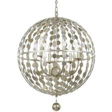 Orb Chandelier Layla Orb Chandelier In Silver By Crystorama Lighting Connection