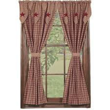 Country Curtains Door Panels by Amazon Com New Ihf Home Decor Star Black Pattern Panel Window