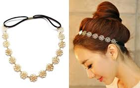 gold headband flower elastic gold headband only 0 94 free shipping