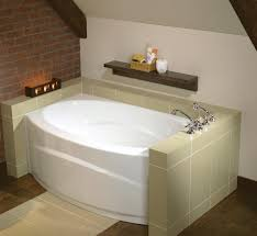 bathroom infinity corner maax bathtubs with silver faucet and