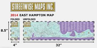Map Of Hamptons New York by Streetwise East Hampton Map Laminated City Street Map Of East