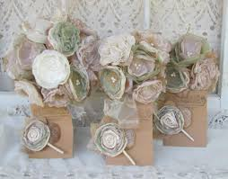 vintage bouquets burlap bridal bouquet package alternative bouquets green and