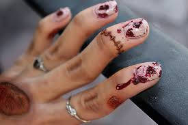 extremely easy zombie nail art for halloween youtube