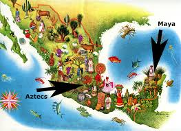 mayan empire map the aztecs vs the