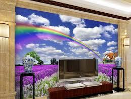 3d murals home decor custom 3d mural wallpaper lavender blue sky and white