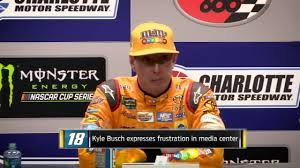 kyle crybaby busch temper original video and dale jr reaction